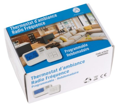 Thermostat programmable hebdomadaire radio