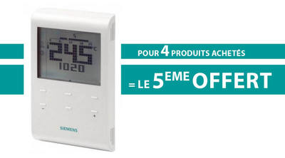 Pack 4+1 thermostat d'ambiance programmable hebdo RDE100.1
