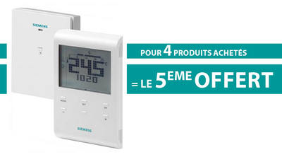 Pack 4+1 Thermostat d'ambiance programmable RED100.1RFS