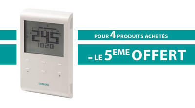 Pack 4+1 thermostat d'ambiance programmable RDE100L